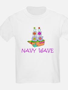 Navy Wave Kids T-Shirt