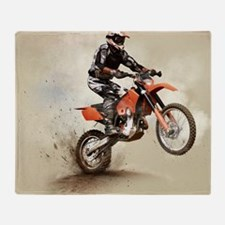 Man on his sport motor Throw Blanket