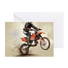 Man on his sport motor Greeting Card