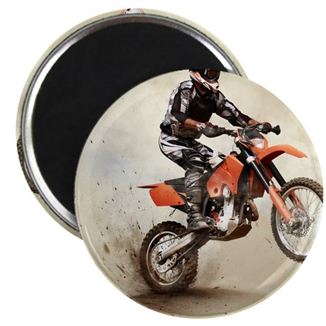 Man on his sport motor Magnet
