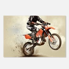 Man on his sport motor Postcards (Package of 8)