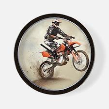 Man on his sport motor Wall Clock