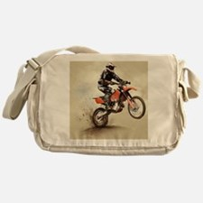 Man on his sport motor Messenger Bag