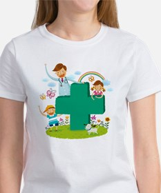 Portrait of doctor and two childre Tee