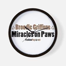 Broodle Griffon dog Wall Clock