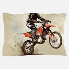 Man on his sport motor Pillow Case