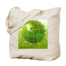 Globe focus on Americas, digital Tote Bag