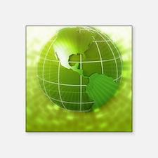 "Globe focus on Americas, di Square Sticker 3"" x 3"""