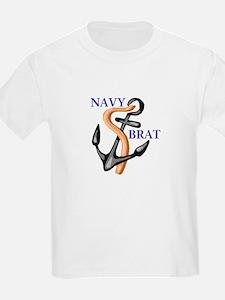 Navy Brat Kids T-Shirt