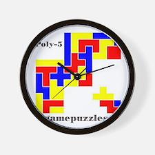 POLY-5 gamepuzzles Wall Clock