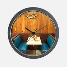 Booth in Diner Wall Clock