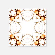 "Neurons, kaleidoscope artwo Square Sticker 3"" x 3"""