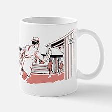 Man running to train Mug