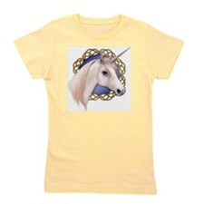 An illustration of a Unicorn with a Cel Girl's Tee