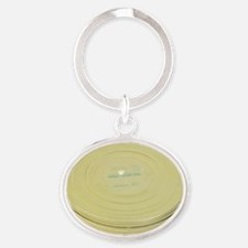 Metal Film Reel Canister K Oval Keychain
