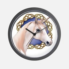 An illustration of a Unicorn with a Cel Wall Clock