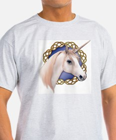 An illustration of a Unicorn with a  T-Shirt