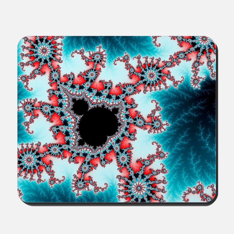 Mandelbrot fractal. Computer-generated i Mousepad