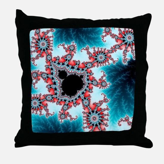 Mandelbrot fractal. Computer-generate Throw Pillow