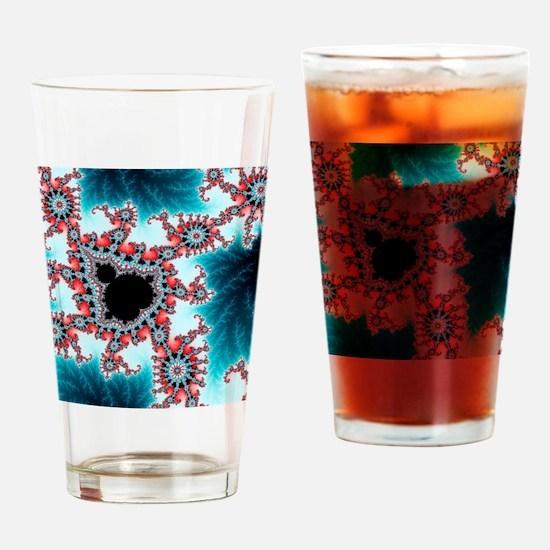 Mandelbrot fractal. Computer-genera Drinking Glass