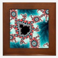 Mandelbrot fractal. Computer-generated Framed Tile