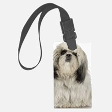 Portrait of Tibetan terrier pupp Luggage Tag