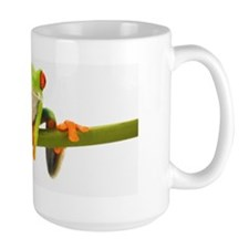 Tree frog on stem Mug
