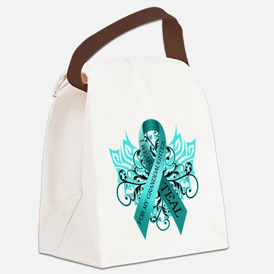 I Wear Teal Canvas Lunch Bag