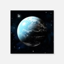 """Planet earth with stars all Square Sticker 3"""" x 3"""""""