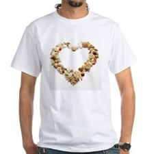 Assorted seashells form heart sha Shirt