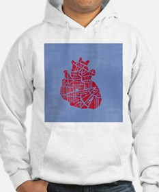 A heart on a blue background Hoodie