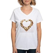 Assorted seashells form hea Shirt