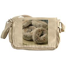 A plate of sugar donuts Messenger Bag