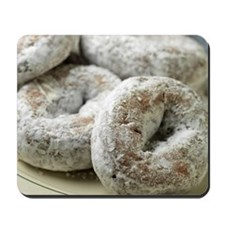 A plate of sugar donuts Mousepad