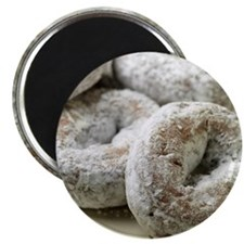 A plate of sugar donuts Magnet