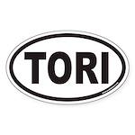 TORI Euro Oval Sticker