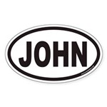 JOHN Euro Oval Sticker