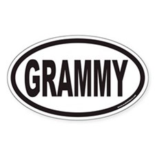 GRAMMY Euro Oval Bumper Stickers