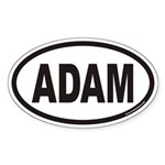 ADAM Euro Oval Sticker
