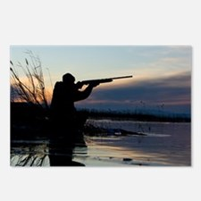 Man duck hunting at dawn Postcards (Package of 8)