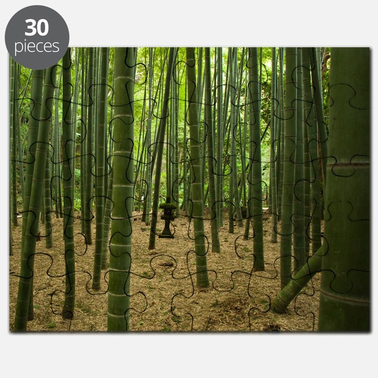 Ancient bamboo grove with stone lantern, Ka Puzzle