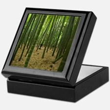 Ancient bamboo grove with stone lante Keepsake Box