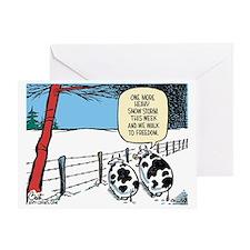 Snowbound Cattle Greeting Card