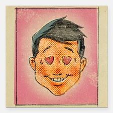 "Illustration of a man wi Square Car Magnet 3"" x 3"""