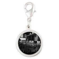 USA, New York City, Grand Cent Silver Round Charm