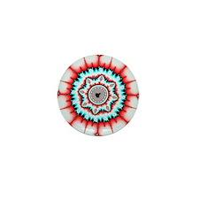 Mandelbrot fractal. Computer-generated Mini Button