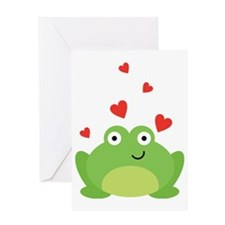 Frog in Love Greeting Card