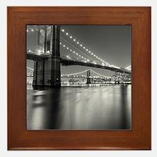 Brooklyn Bridge and Manhattan Bridge a Framed Tile