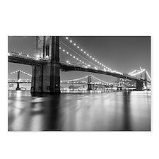 Brooklyn Bridge and Manha Postcards (Package of 8)