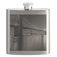 Brooklyn Bridge and Manhattan Bridge at Nigh Flask